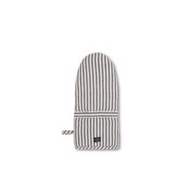 Lexington Icons Cotton Herringbone Striped Mitten, Black/White