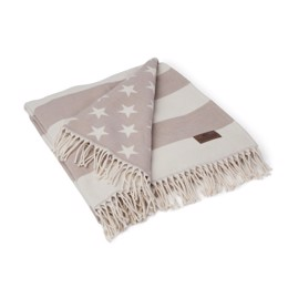 Lexington Flag Throw - Hvid/beige 130x180