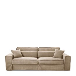 Riviera Maison Sofa - Metropolis Sofa 3,5 Seater, Washed Cotton, Natural