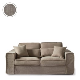 Riviera Maison Sofa - Metropolis Sofa 2,5 Seater, Washed Cotton, Stone