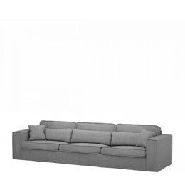 Riviera Maison Sofa - Metropolis Sofa XL, Washed Cotton, Grey