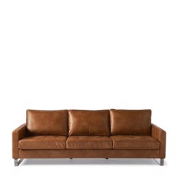 Riviera Maison West Houston Sofa 3,5 seater, pellini, brown (Bestillingsvare)