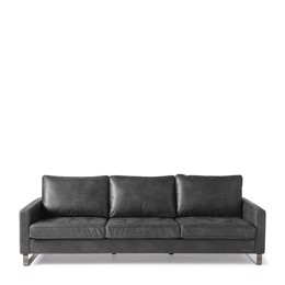 Riviera Maison West Houston Sofa 3,5 seater, pellini, grey (Bestillingsvare)