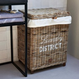 Riviera Maison Rustic Rattan Laundry District Basket - Vasketøjskurv i rattan