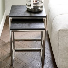 Riviera Maison Nomad End Table S/2, Black (Bestillingsvare)