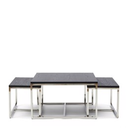 Riviera Maison Nomad Coffee Table S/3, Black (Bestillingsvare)