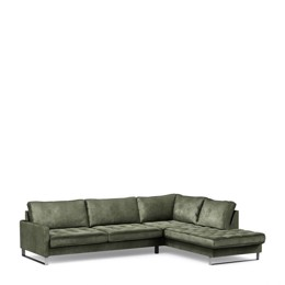 Riviera Maison West Houston Corner Sofa Chaise Longue Right, Velvet ivy (Bestillingsvare)