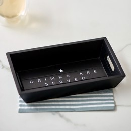 Riviera Maison Drinks Are Served Mini Tray - Serveringsbakke