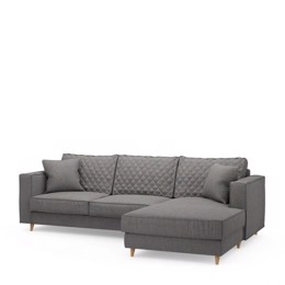 Riviera Maison Kendall Sofa with Chaise Longue Right, Oxford weave, Classic charcoal (Bestillingsvare)