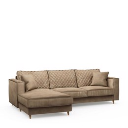Riviera Maison Kendall Sofa With Chaise Longue Left, Velvet, Golden Beige (Bestillingsvare)