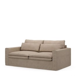 Riviera Maison Continental Sofa 2,5 Seater, washed cotton, natural (Bestillingsvare)