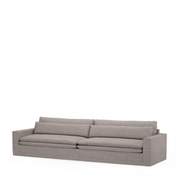 Riviera Maison Continental Sofa XL, washed cotton, stone (Bestillingsvare)