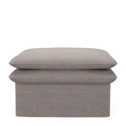 Riviera Maison Puf -  Continental Footstool 105x80, washed cotton, stone (Bestillingsvare)
