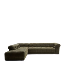 Riviera Maison Cobble Hill Corner Sofa Left, Celtic Weave, pacific turtle (Bestillingsvare)