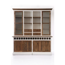 Riviera Maison Driftwood Cabinet with Winerack double (Bestillingsvare)