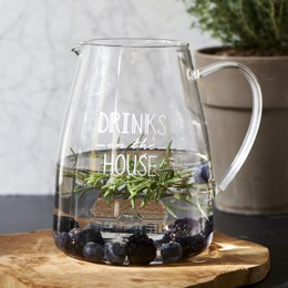 Riviera Maison Drinks On The House Jug - Glaskande