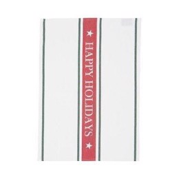 Lexington Holiday Kitchen Towel White - juleviskestykke 50x70 cm