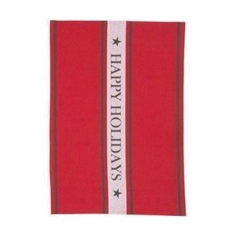 Lexington Holiday Kitchen Towel red - juleviskestykke 50x70 cm