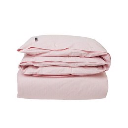 Lexington Icons Pin Point Duvet, Pink/White, dynebetræk 140x200 cm