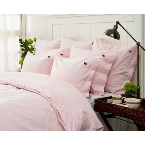 Lexington Icons Pin Point Pillowcase, Pink/White - hovedpudebetræk 60x63 cm