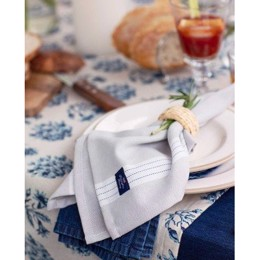 Lexington Striped Napkin, Beige - stofserviet 50x50 cm