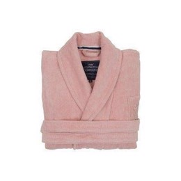 Lexington Unisex Hotel Velour Robe Pink - Pink badekåbe